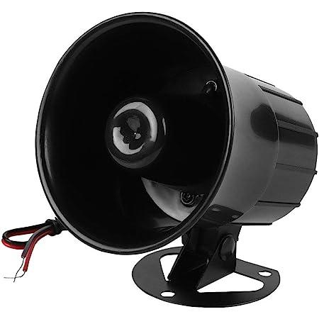 Alarma Cableada DC 12V, Sirena de bocina ruidosa Sistema de Alarma de Seguridad para el hogar, 115dB bocina Alarma zumbador (115dB)
