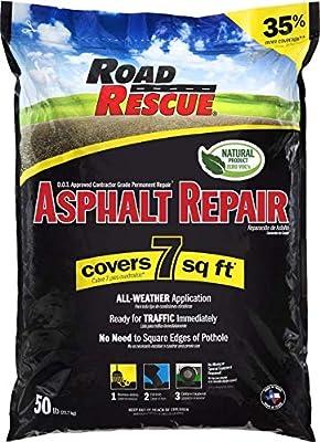 Road Rescue AP-500 10 Pack; Asphalt Repair 50 Lb. Asphalt Repair (10 Pack), Black