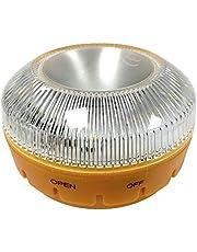 MAGIC SELECT Luz de Emergencia homologada v 16, autorizada por la DGT para señalización en emergencias de Carretera para Coche y Moto, Linterna imantada para vehículo