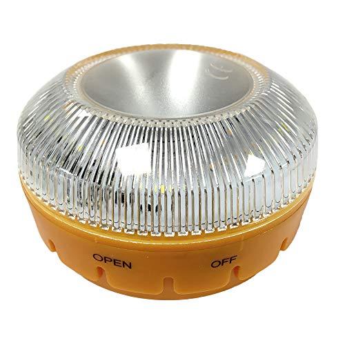 MAGIC SELECT Luz de Emergencia Autónoma Homologada v16, Autorizada por la DGT, Flash de señalizacion para emergencias en la Carretera para Coche y Moto, Linterna imantada con Flash para vehiculo (1)