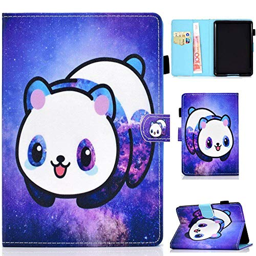 FDPEISHI Funda para Kindle Paperwhite, Cubierta De La Tableta para Amazon Kindle Paperwhite 4 Caso Kawaii Panda Gafas Elefante Flip Shell para Paperwhite 3 2 1 2015 2017 6.0,Panda