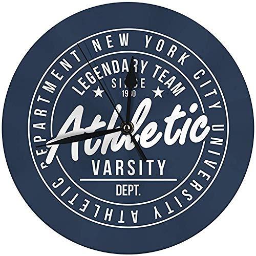 Moderne wandklok grote 9,8 inch New York Athletic Varsity Style Vintage wandklok
