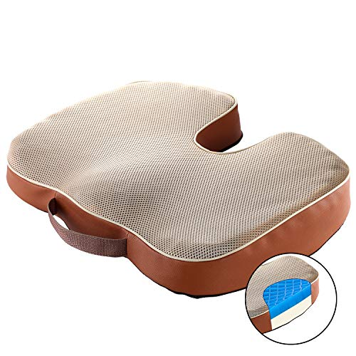 GENERAL ARMOR Memory Foam Cushion Seat Cushion with Gel Cushion on the top two side avialable for different option and soft Gel and Foam side for office chair cushion