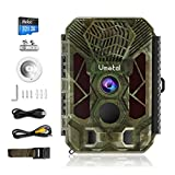 Vmotal Trail Camera with Night Vision 20MP 2.7K Game Camera, Play Animal Sounds 0.2s Trigger Time 98FT Trigger Distance 2.8' LCD IP66 Waterproof Scouting Hunting Cam 42pcs IR LEDs Wildlife Monitoring