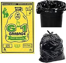 G-1 Garbage Bags (Medium) Size 48 cm x 56 cm (Black Colour) 3000 Pcs - Super Saver Pack of 100