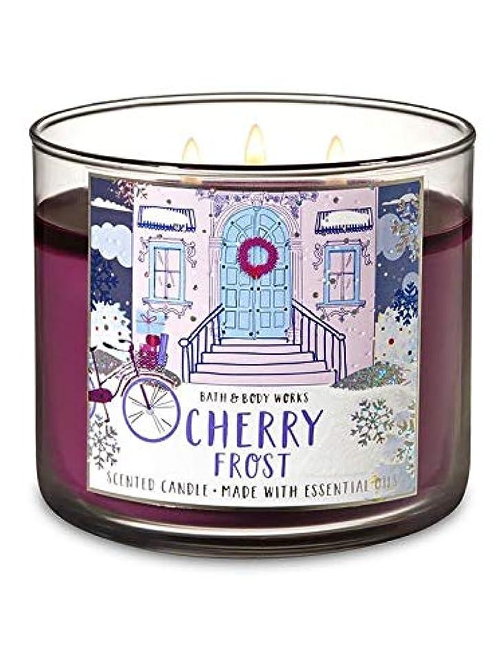 イデオロギー慈悲深いスカープ【Bath&Body Works/バス&ボディワークス】 アロマキャンドル チェリーフロスト 3-Wick Scented Candle Cherry Frost 14.5oz/411g [並行輸入品]