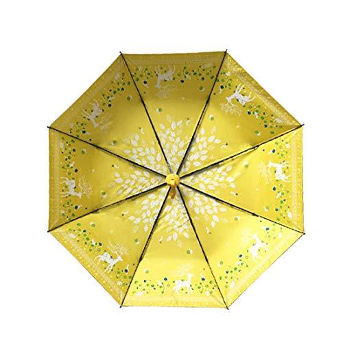 Paraguas amarillo Grande para Mujer