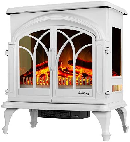 e Flame USA 28 XL Denali Portable Freestanding Electric Fireplace Stove 3 D Log and Fire Effect product image