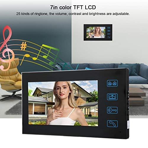 NITRIP Timbre con Video Bajo Consumo de energía Diseño Ultrafino para Montaje en Pared Timbre con Video Intercomunicador(European regulations)