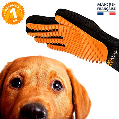 Guante Pelo Perro 2 En 1 One PETS-TOP Cepillo guante Mascotas Sin Irritar Piel Silicona