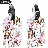 LORVIES - Etiquetas para equipaje de Pascua, diseño de conejo de Pascua, 2 unidades