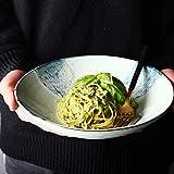 Vibrantes □ Colores Estilo Japonés de 9 Pulgadas de Cerámica Ramen Tazón Retro del Restaurante Hogar Grande de Verduras Ensaladera Recipiente Poco Profundo Boca Soup Bowl Tazón de Cerámica Porcelana