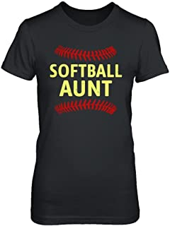 Women's Softball Aunt Shirt Ladies' Short Sleeve Tee
