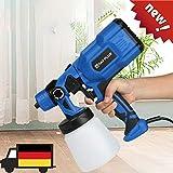 Elektrische Spritzpistole Farbsprühsystem 550W HVLP-Heimfarbspritzgerät, Durchflussregelung, mit 3 Sprühmustern und abnehmbarem 800 ml-Schaden für Anstrichprojekte (2-5 Werktage Lieferung)