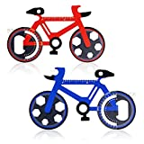 Bike Shaped Multi Tool Father's Day Gift,2 Pack Bicycle Tool Card, Carabineer with Compact Stainless Steel Construction for Cycling, Hiking, Kayaking, Camping, Travel and Outdoor Survival