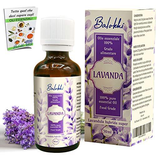 Olio Essenziale alla Lavanda + Ebook Incluso • MADE IN ITALY • 100% Puro Naturale per Aromaterapia e Diffusore •...