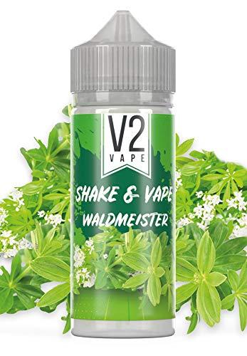 V2 Vape Shake and Vape hochdosiertes Premium Aroma-Konzentrat zum selber mischen mit Base. Zum direkt dampfen - ohne Reifezeit 20ml 0mg nikotinfrei Waldmeister