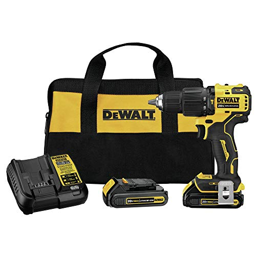 Dewalt DCD709C2R ATOMIC 20V MAX Brushless Lithium-Ion Compact 1/2 in. Cordless Hammer Drill Kit (Renewed)