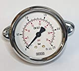 Wika - Manómetro de montaje (3 cantos, 63 mm, 0-2,5 bar)