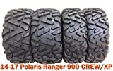 Set 4 Radial ATV Tires 26x9R12 & 26x11R12 for 14-17 Polaris Ranger 900 CREW/XP