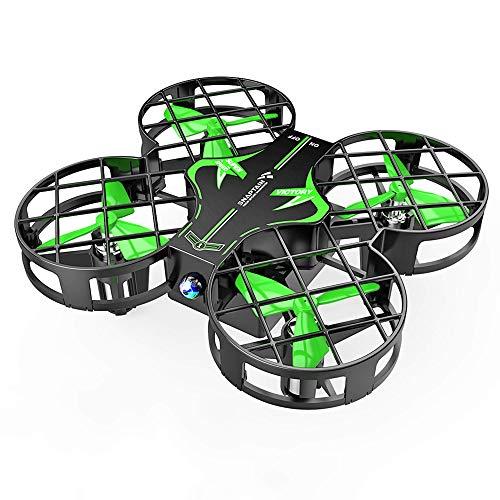 SNAPTAIN Mini Drohne H823H mit 3 Akkus für 21 Minuten Flugzeit, Quadrocopter Mini Helikopter mit Höhehalten, Kopfloser Modus, 3D Flips und 3 Geschwindigkeitsmodi für Kinder, grün