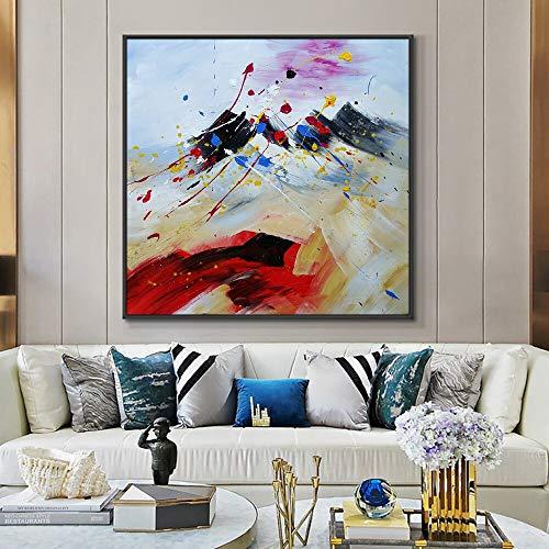 wZUN Pintura al óleo Abstracta de la Textura en la Pintura del Art déco de la Lona de la Lona para la decoración casera de la Pared 60x60 Sin Marco