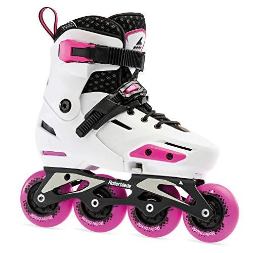 Rollerblade Mädchen Apex Inlineskate, White/Pink, 210