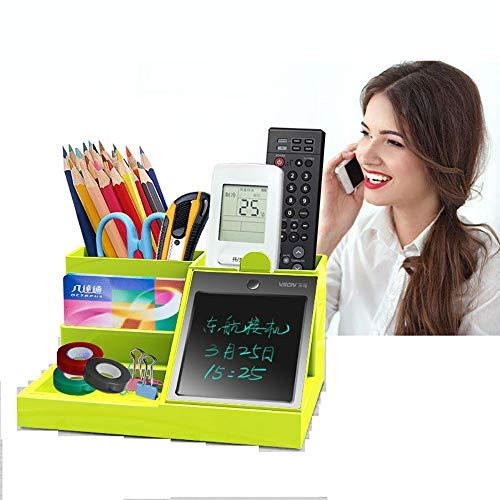 ZUN Porte-Stylo Multifonctionnel avec Tablette LCD Boîte À Stylo De Bureau avec Tablette D'écriture Électronique