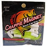 Leland Lures 87274 Crappie Magnet Body Pack, White/Chart, 15-Pack