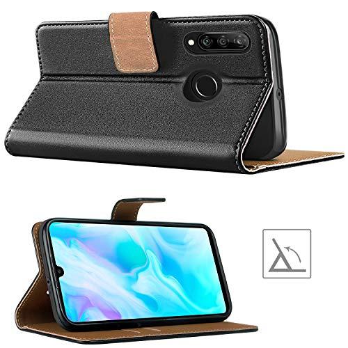 HOOMIL Handyhülle für Huawei P30 Lite Hülle, Premium Leder Flip Schutzhülle für Huawei P30 Lite Tasche, Schwarz - 4