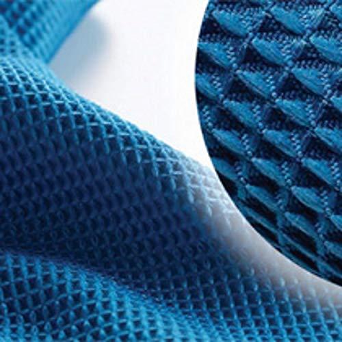 Chiffon en Microfibre, Tissage gaufré X10 - Bleu - 40x40cm