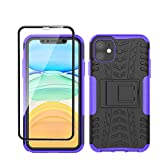 Yiakeng iPhone 11 Case and Tempered Glass Screen Protector,