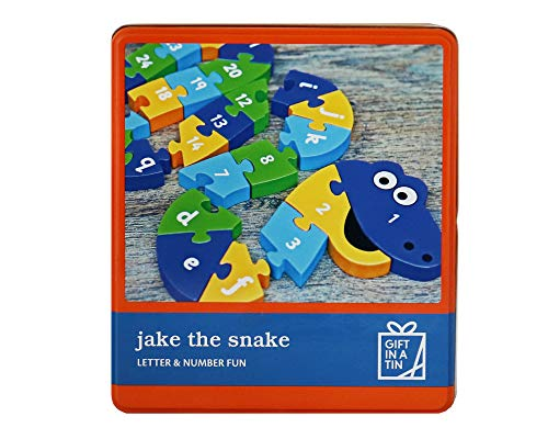 Regalo en una lata Jake la serpiente letra y número divertido