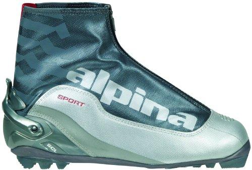 ALPINA SCL Serie Sport di Sci Nordico Classic Scarponi da Sci, Silver/Charcoal