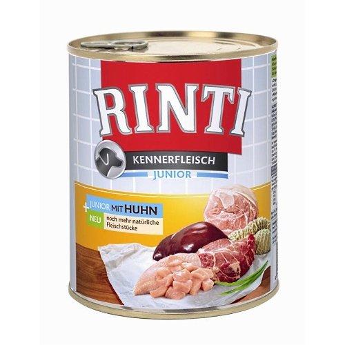 Rinti Hundenassfutter Kennerfleisch pur Junior Huhn 6x800g