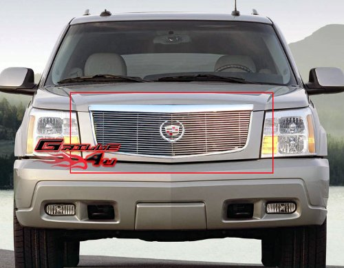 APS Compatible with 2002-2006 Cadillac Escalade EXT EXV Main Upper Billet Grille Insert A85366A