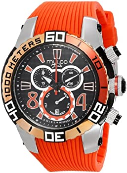 Mulco Analog Display Swiss Quartz Orange Unisex Watch