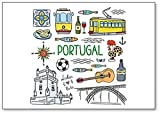 Imán para nevera, diseño de símbolos de Portugal