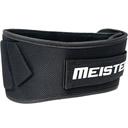 "Meister contoured neoprene weight lifting belt 6"" image"