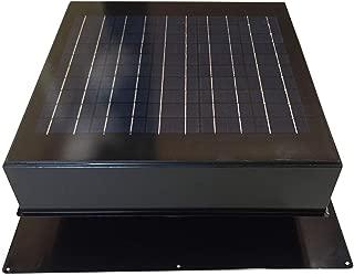 Remington Solar Attic Fan, Solar 20 Watt Solar-Powered, Roof Mounted with Bonus Thermostat and Humidistat Pre-Installed, Quiet Brushless 24V DC Motor Easy Installation Exhaust Fan, in Black