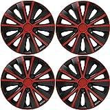 Set de 4 Automotive Tapacubos para Fiat Punto Doblo Multipla Panda Stilo 500, 14' Hermosos Accesorios Decoración Modificados