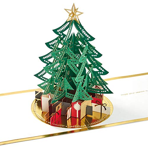 Signature Collection Christmas Card from Hallmark - Pop-up 3D Papercraft Tree