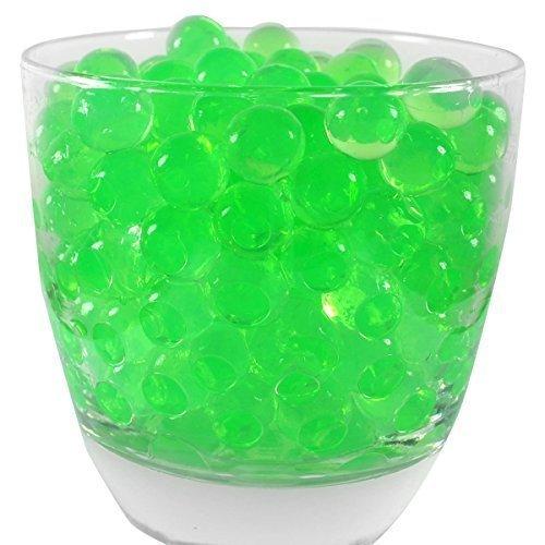 Trimming Shop Grünes Wasser Gell Balls Aqua Crystal Boden Bio Gel Silikon Für Hochzeit Vase Mittelstück, 10 Pakete