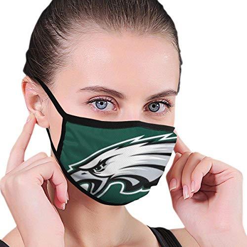 Mundschutz Philadelphia-Eagles Unisex-Gesichtsbedeckung Lustige Winddichte Mundbedeckung für Outdoor-Festivals Sport Schwarz