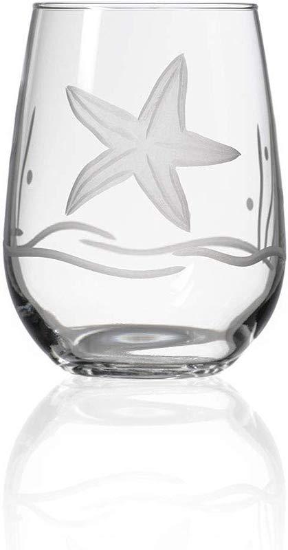Rolf Glass 17 Oz Starfish Stemless Goblet One Size
