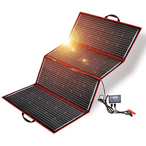 Dokio - Equipo de panel solar de 300 W, mono, portátil, plegable, incluye controlador de carga solar y cable PV para batería de 12 V
