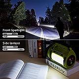 LE LED Handscheinwerfer 1000 Lumen, Wiederaufladbare CREE Akku Handlampe mit 3600mAh Powerbank, 10W Dimmbare Taschenlampe inkl. 3 Lichtmodi 2 Helligkeitsstufen, USB-Kabel für Notfall Camping usw. - 2