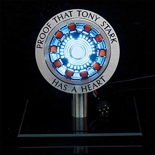 Arc Reactor 1:1MK1 Led Light Mark Light DIY Model Science Toy USB-Schnittstelle, kein Zusammenbau erforderlich, keine Fernbedienung erforderlich, Spielzeug Geschenk (mit Vitrine)