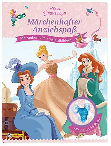 Disney Prinzessin: Märchenhafter Anziehspaß: Mit zauberhaften Ausmalbildern und vielen Stickern