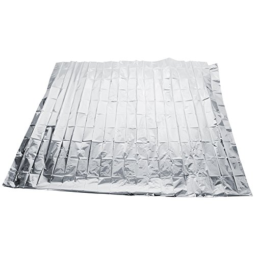 EBTOOLS Silberne reflektierende Folie, reflektierende Abdeckfolie für Gewächshäuser, 210 x 120 cm